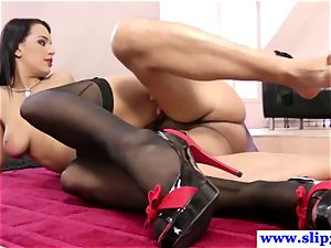 classy brit nubile romping old dude pillar and enjoys it