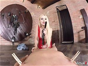chesty stunner Angel Wicky in VR porno