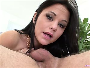 Brooklyn Daniels bj's And Takes A massive mouthhole Of jizm