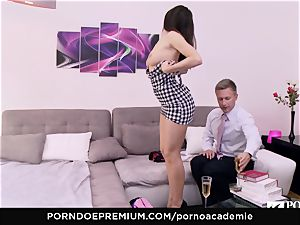 porn ACADEMIE Lana Rhoades enjoys nailing French spunk-pump