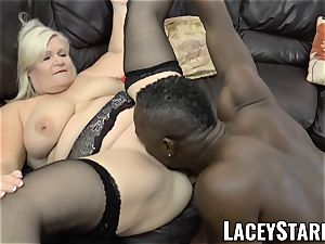 LACEYSTARR - grandma rectally creampied with bbc