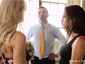 Brandi love lets ho-bo Abbey Lee Brazil drill her stud
