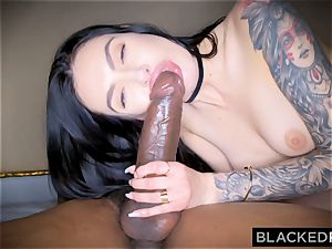 BLACKEDRAW Canadian girlfriend takes large big black cock in her bum