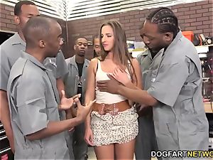 Amirah Adara deep throats An whole squad Of black boys