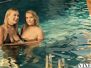 VIXEN Mia Malkova and Natalia Starr share a phat stiffy!!