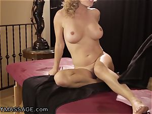 Krissy Lynn likes her massages Deep and rock hard
