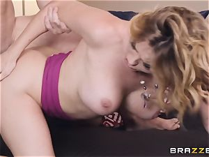 Krissy Lynn riding on a pulsating meatpipe