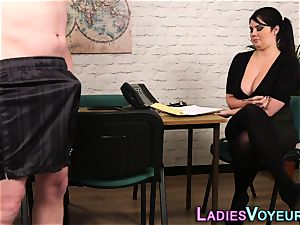 round office cfnm domme