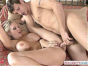 Peeling Julia out of her denim