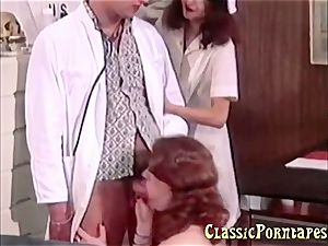 wild physician plumbs her patient and her nurse