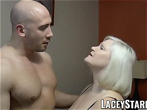 LACEYSTARR - GILF seduces yam-sized dicked hunk into nailing