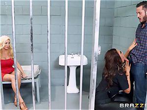 Bad cop Ava Koxxx steals Summer Brielles dude