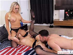 Alexis Monroe and Aidra Fox anxious for the man-meat of Seth Gamble