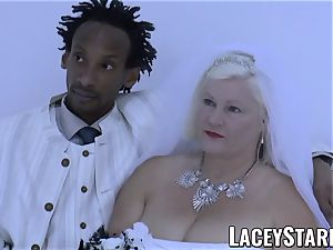 LACEYSTARR - granny bride fed with jizz after banging