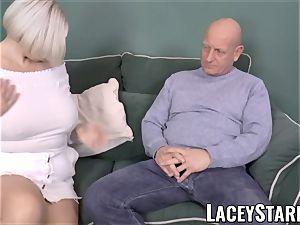 LACEYSTARR - big-chested GILF negotiates a great vagina deal