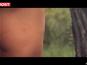 LETSDOEIT - naughty black-haired Caught Running in the forest