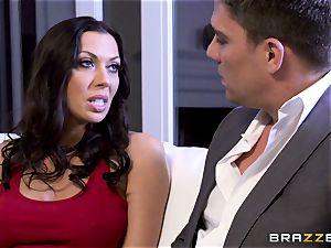 Rachel Starr penetrating her spouses torrid suited chief
