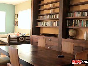 Eva Lovia catches her probe partner filming her and her stepmom getting bizarre