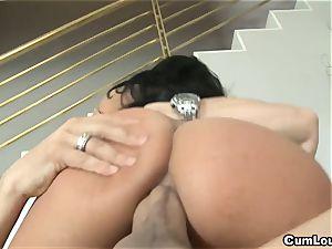 super-naughty Anissa Kate rides a large jizz-shotgun deep in her butt