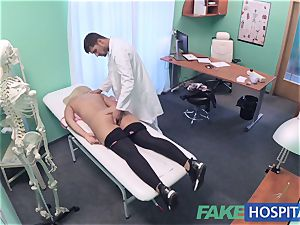 FakeHospital chesty Russian babe guzzles cumload