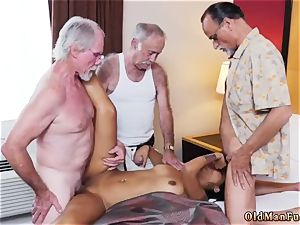 Taking daddy and older fellow force Staycation with a brazilian hotty