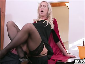 Harry Potter and Hermione and huge-chested Mature mega-bitch Brandi enjoy