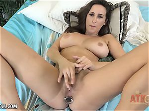 nubile Ashley Adams pounds with two playthings