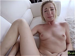 Bratty sis - penis glides In Sisters fuckbox She luvs It