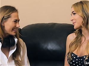 Carter Cruise and Blair Williams love each others torrid muffs