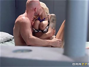 Nina Elle boinks a wonderful con in front of her hotwife hubby