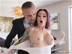 Monique Alexander riding rock-hard on top