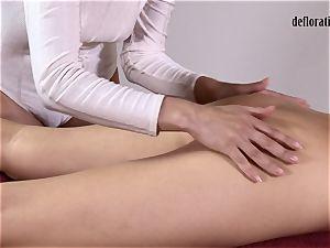 honeypot of Nikita groped in a sapphic massage