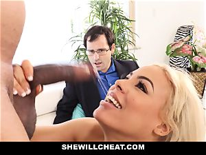 SheWillCheat - Latina wife Creampied By bbc