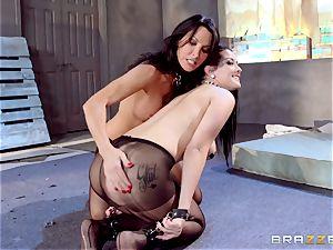 Lezley Zen and Katrina Jade fetish all girl pummel