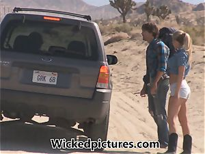 Samantha Saint hitchhikes her way to a hefty trouser snake