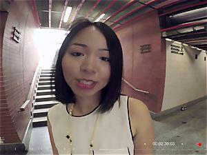 cocksluts ABROAD - Thai tourist squirts in super-steamy pov romp