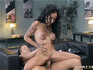 Amia Miley getting a real deep invasion