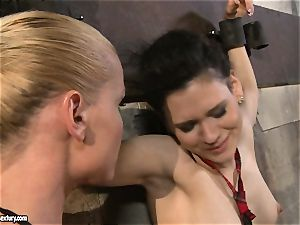 Kathia Nobili torturing a naughty college nymph