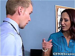 Lisa Ann making the office perceive tight in their pants in 720p