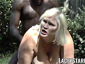 LACEYSTARR - grandma pleading for young ebony pipe