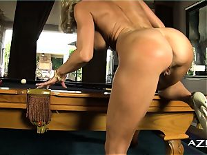 light-haired cougar inhales dildo and crams herself up