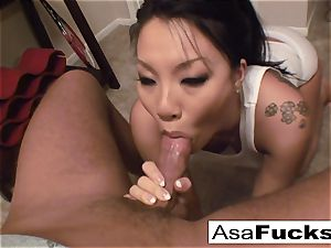 Asa gives an impressive deep mouth bj