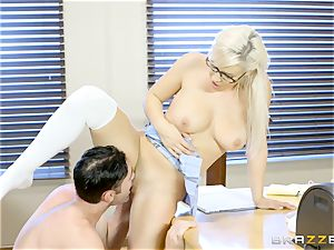 wild college girl Kylie Page smashes her educator