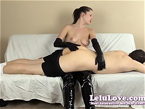 female dominance spanking his backside with my hairbrush forearms..
