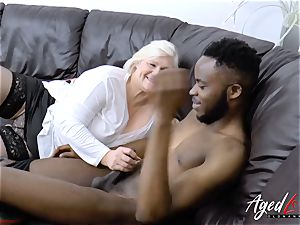 AgedLovE Lacey Starr gets bi-racial gonzo