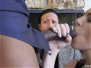 ebony stud nails his boss trampy wifey Dahlia Sky