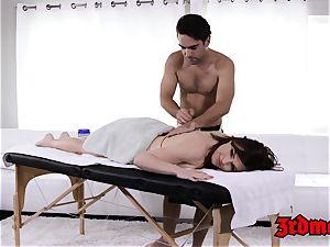 massage luving milf Krissy gets her moist coochie plunged