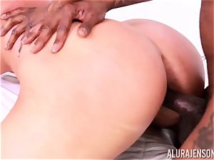 honeypot jammed Alura Jenson by fat black cock and white fellow