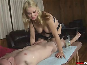 customer Shocks To observe The magnificent blondie masseuse