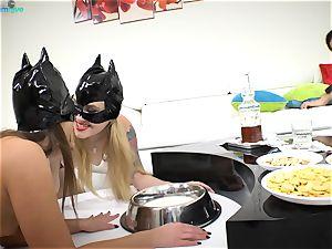 edible babes Misha Cross and Amirah Adara insane fucky-fucky
